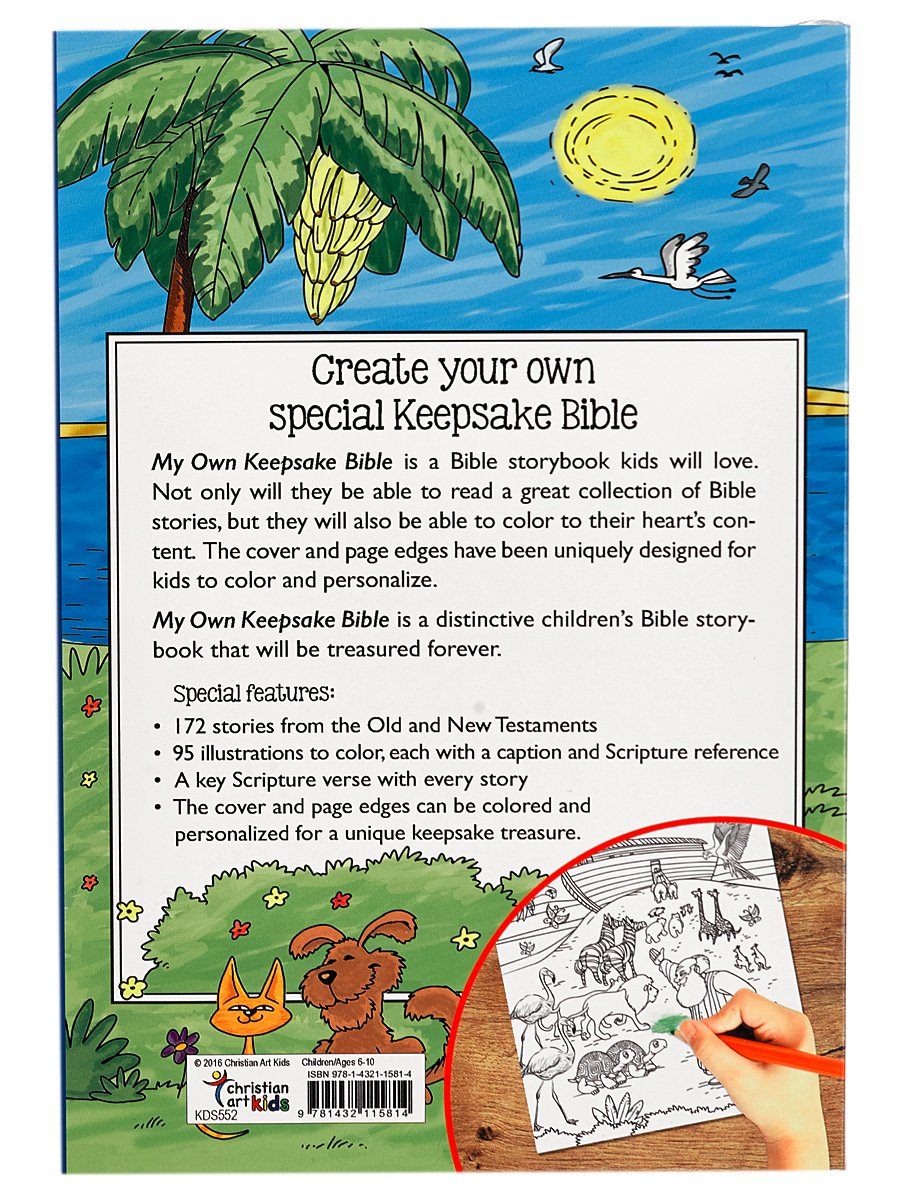 My Own Keepsake Bible: A Kids Bible Storybook to Color: Christian ...