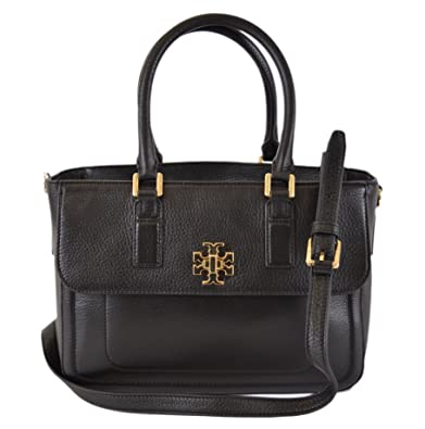 339c6a756e94 Image Unavailable. Image not available for. Color  Tory Burch Black Leather  Mini Mercer Convertible Handbag Purse