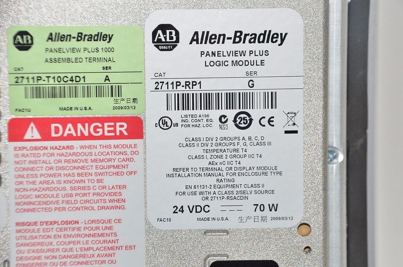 Allen Bradley 2711P-T10C4D1 PanelView Plus 1000 Terminal 64MB ...