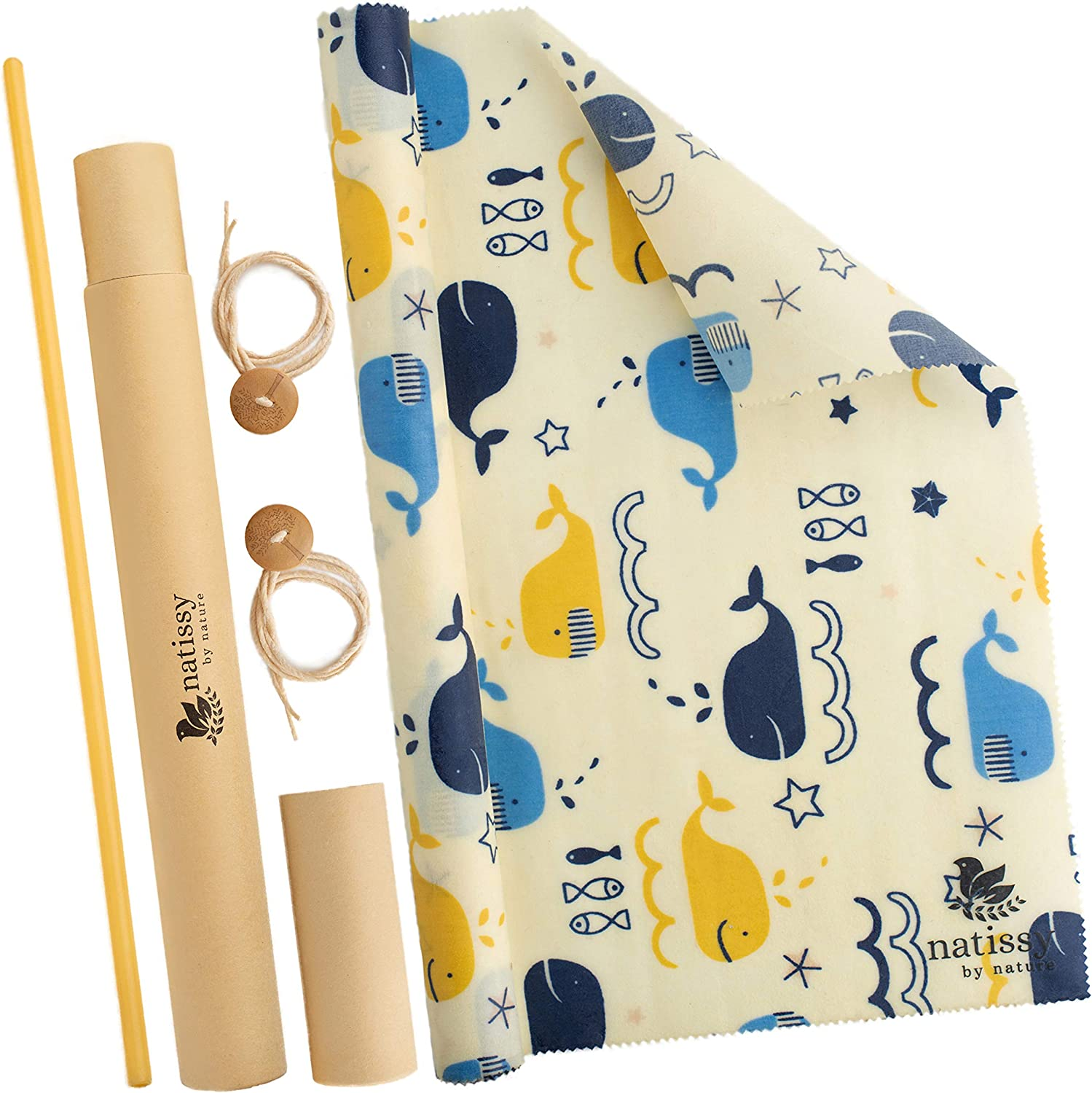 Reusable Beeswax Food Wrap, 39″ Roll of Organic Bees Wax Wrap for Bread, Cheese, Sandwich; Eco-Friendly Reusable Beeswax Wraps for Food & Covering Bowls; Sustainable Bees Wrap Reusable for Eco Kitchen