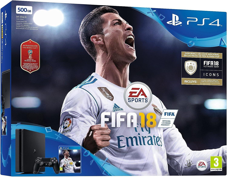 PlayStation 4 (PS4) - Consola 500 GB + FIFA 18 (World Cup): Sony: Amazon.es: Videojuegos