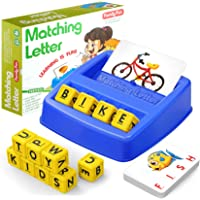 HahaGift Educational Toys for 3-5 Year Old Boy Girl Gifts, Matching Letter Learning Games Activities, Ideal Christmas…