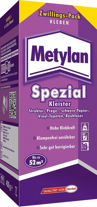 Metylan Direct Kleister für alle Vliestapeten / Professioneller, starker Kleister für bis zu 44m² / Rollkleister für direkten Wandauftrag / 1 x 400g Henkel MD40