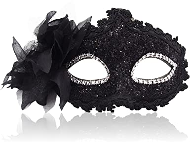Gorgeous Flower Crystal Delicate Women Masquerade Party Mask