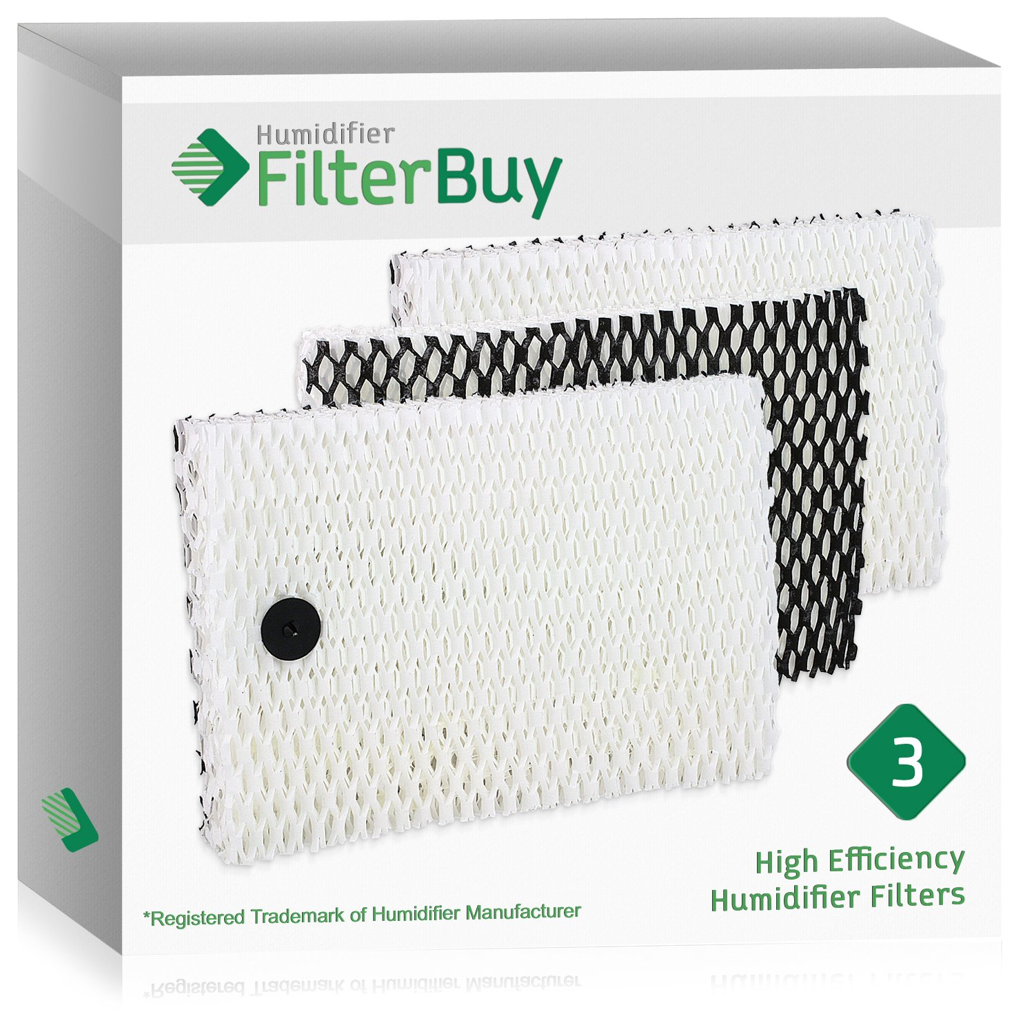 3 - Holmes Type ''E'' HWF100, Bionaire BWF100 Humidifier Replacement Filters. Designed by FilterBuy to fit HM630, HM729G, HM7203, HM7203RV, HM7204, HM7808, HM7305, HM730RC, HM7306RC, HM7405 & HM7405RC.