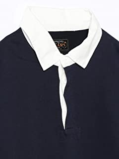 Beams Plus Pocket Rugby Shirt 11-12-0061-156: Navy