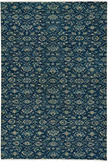 product image for Illustrious Cobalt 8' x 10' Rectangle Hand Knotted Rug