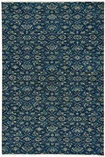 product image for Illustrious Cobalt 10' x 14' Rectangle Hand Knotted Rug