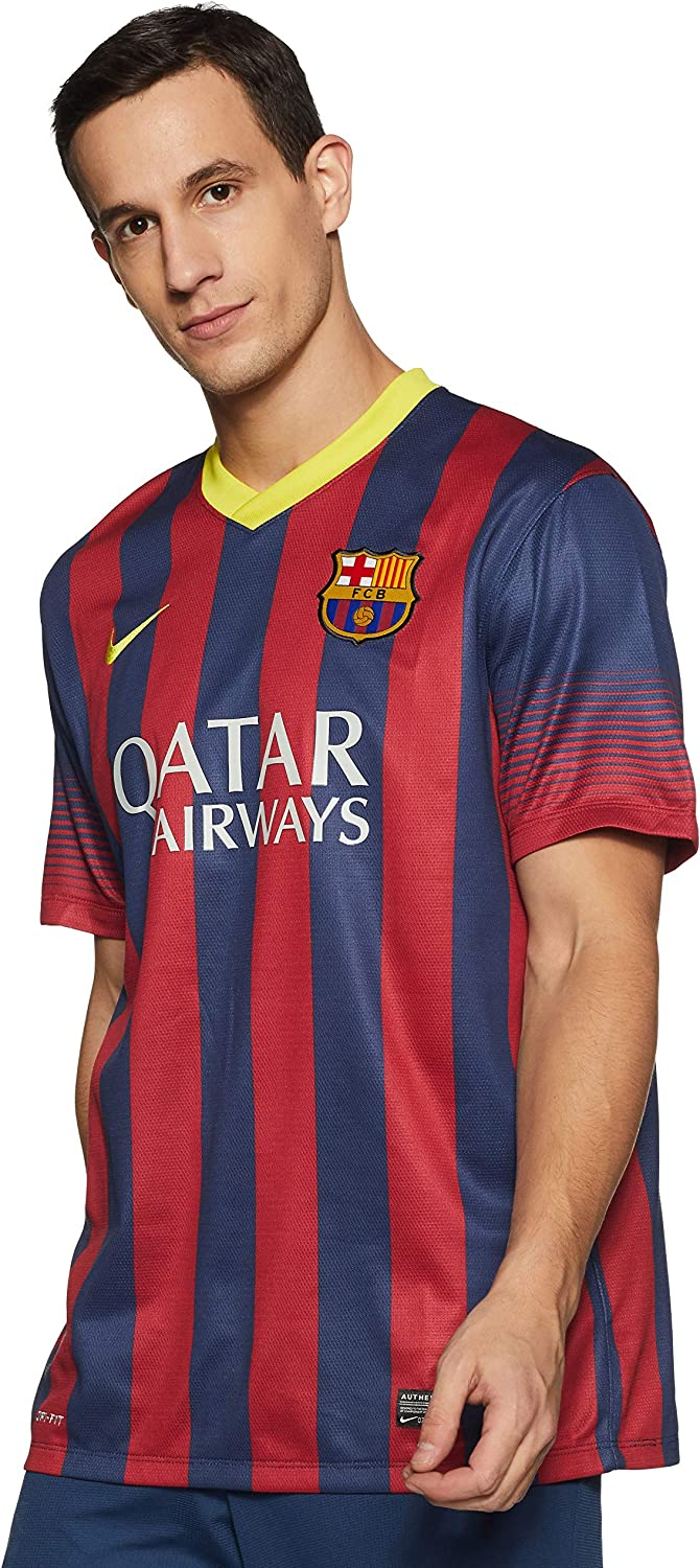 pila Separar Política  Amazon.com : Nike Men's Soccer F.C. Barcelona Home Jersey : Sports Fan  Jerseys : Clothing