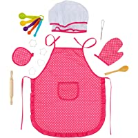 Glonova Conjunto Chef para Niños 17pcs Juguetes