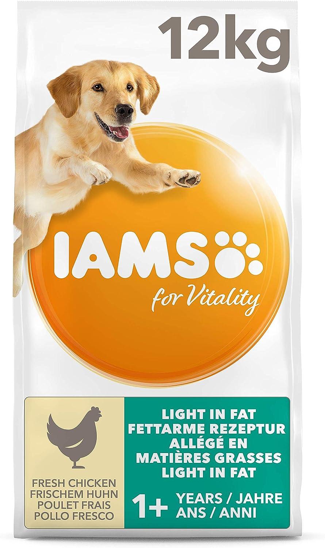 IAMS for Vitality Light in fat - Alimento para Perros con Pollo Fresco, 12 kg
