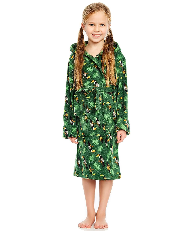 8a2d32cb75 Amazon.com  Leveret Kids Robe Boys Hooded Fleece Sleep Robe Bathrobe (2  Toddler-14 Years) Variety of Colors  Clothing
