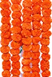 Phool Mala™ Marigold for Decoration - Pack of 5 (Orange)