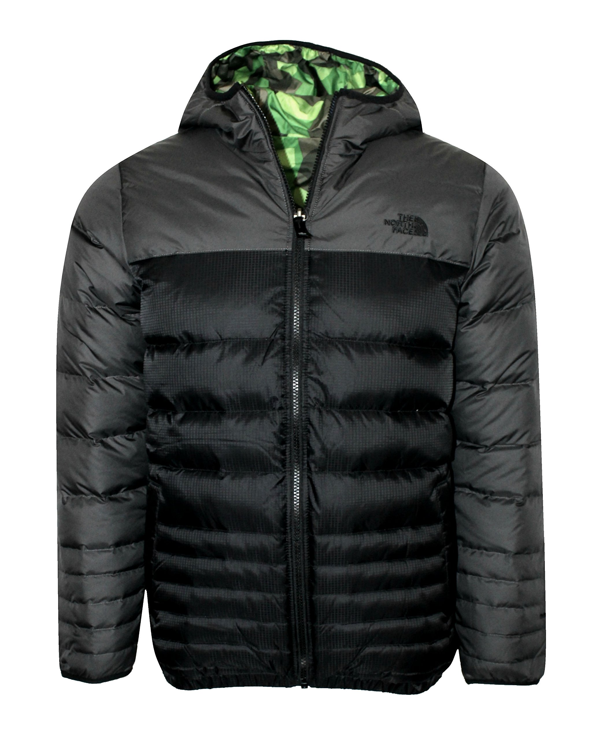 THE NORTH FACE youth boys REESE DOWN REVERSIBLE hooded JACKET (MEDIUM) by The North Face (Image #1)