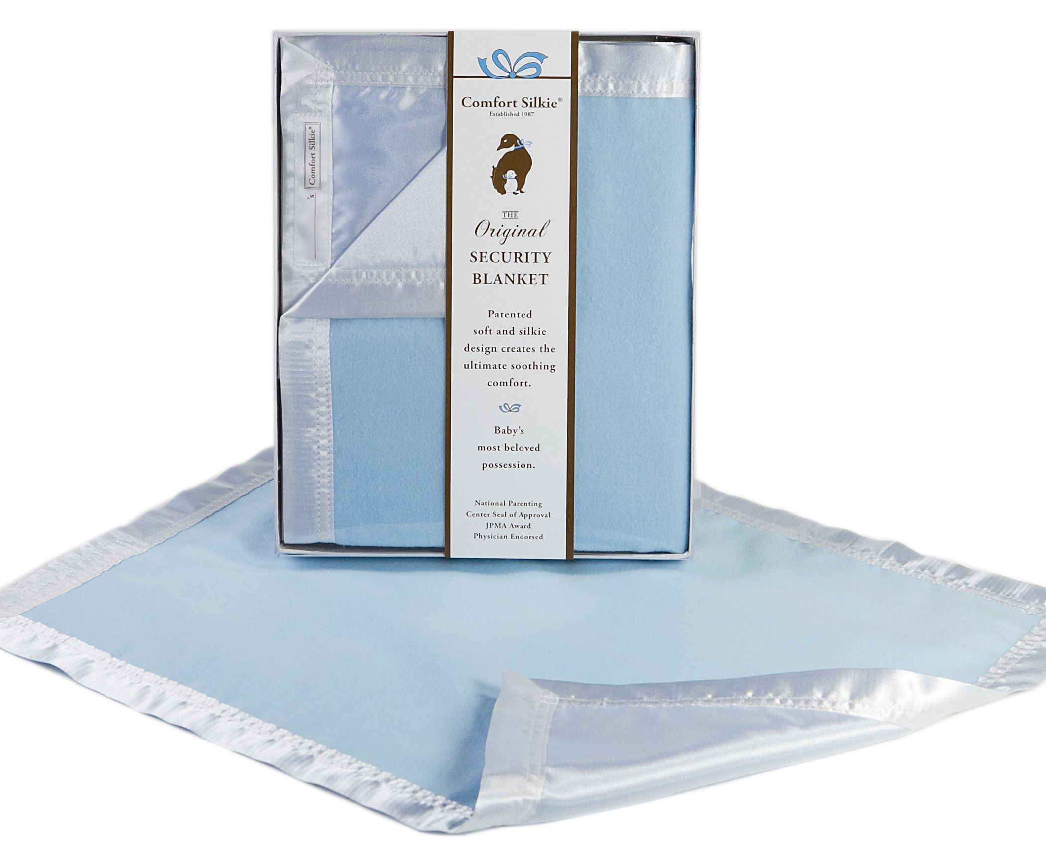 Blue COMFORT SILKIE Security Blanket ~ The Original. The Best. Award Winning.
