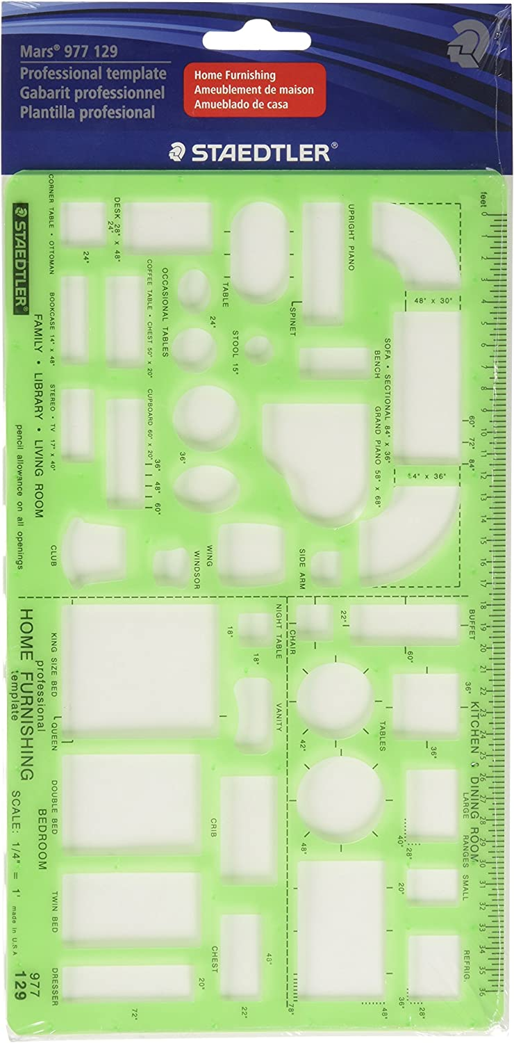 Staedtler Technical Drawing Template (977 129 02) : Technical Drawing Templates : Office Products