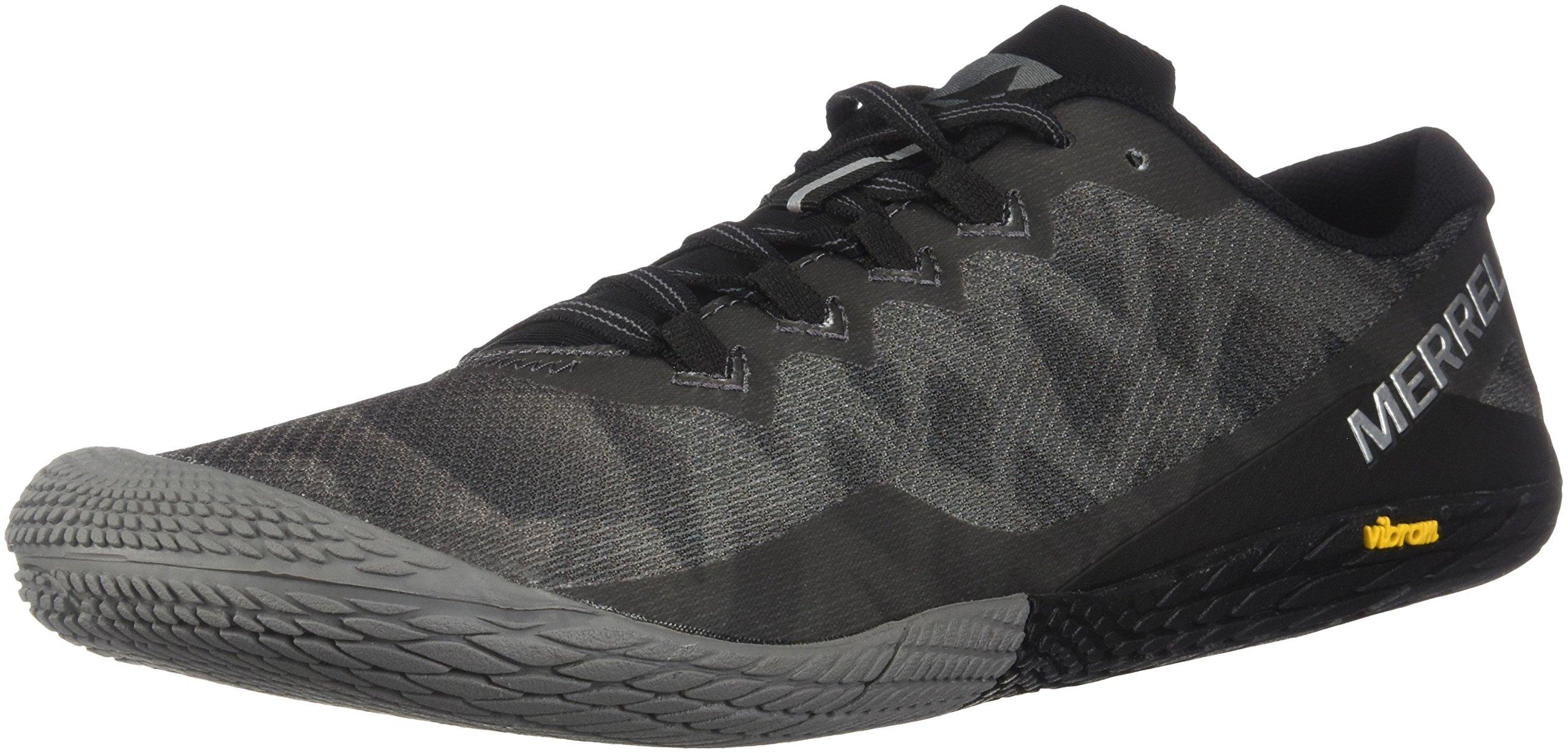 Merrell Men's Vapor Glove 3 Sneaker, Black/Silver, 12 M US