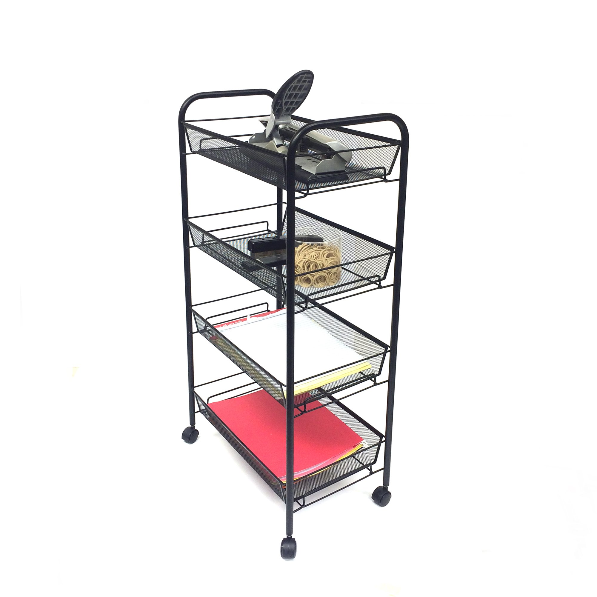 Mind Reader Metal 4 Tier all-Purpose Utility Cart, Black by Mind Reader (Image #4)
