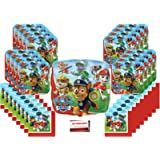 Paw Patrol Rescue Puppy Pet Birthday Party Supplies Bundle Pack for 16 (Bonus 18 Inch