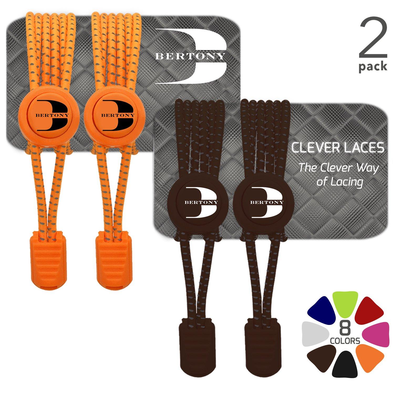 CLEVER LACES Cordones Elásticos con Sistema No Tie Ideal para Deportes Triatlón