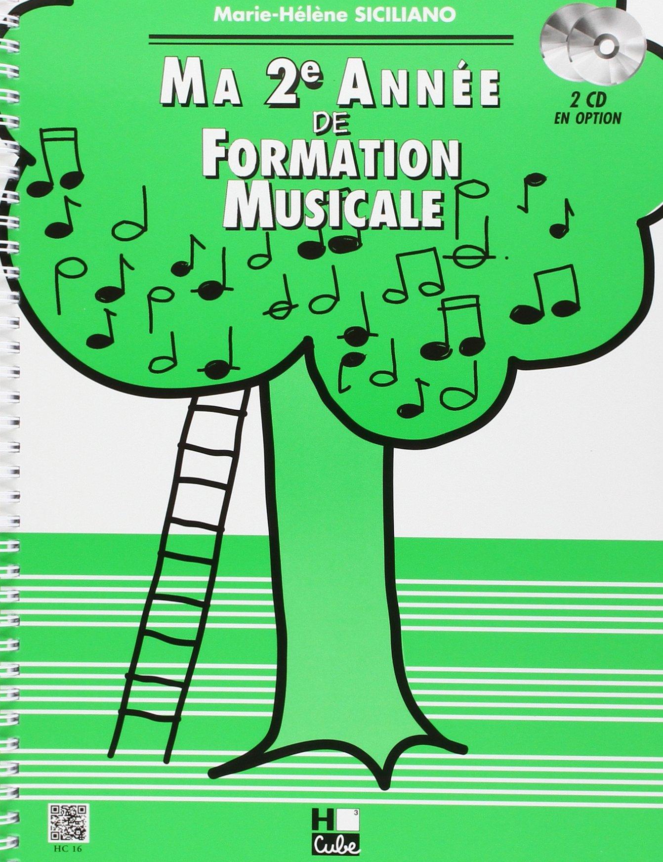 Ma 2ème année de formation musicale Partition – 19 septembre 1995 Marie-Hélène Siciliano H Cube B001J2Z5B2 Musique