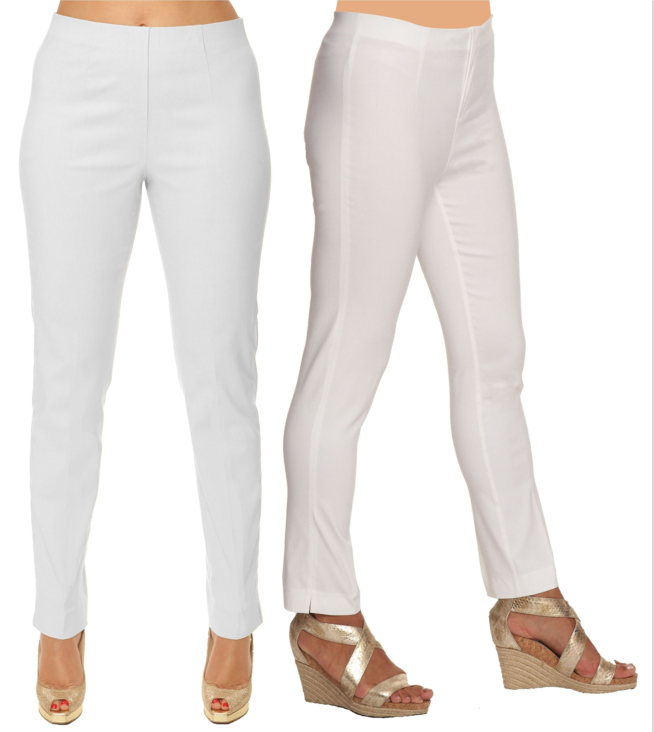Lior Paris SASHA Essential Slim Fit Ankle Pant (10, White)