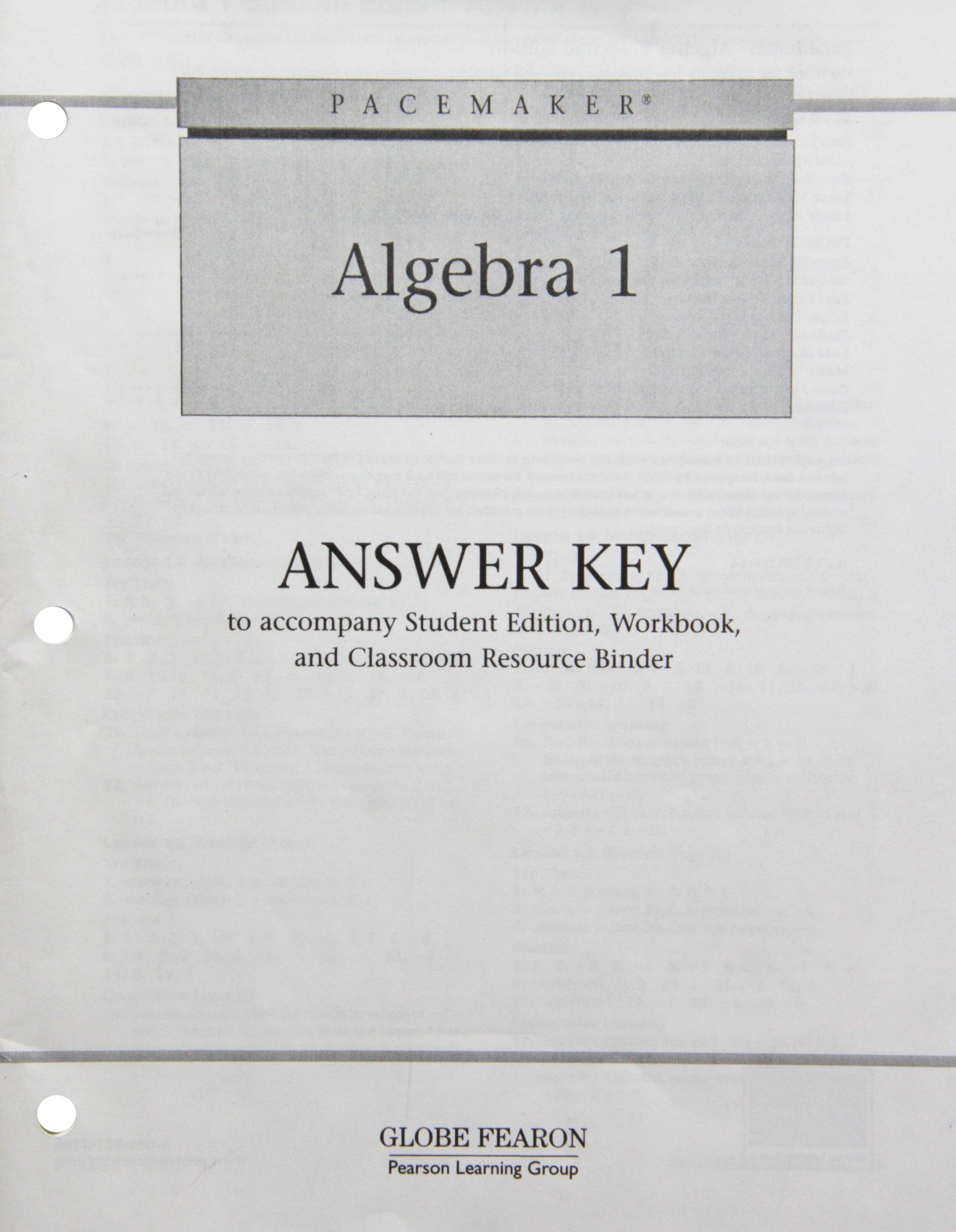 Algebra 1 Answer Key: Fearon: 9780130236449: Amazon.com: Books