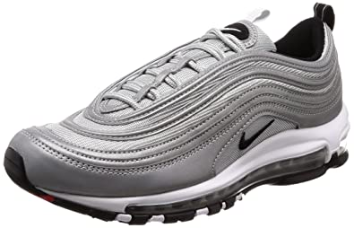 aa51bc8b25 Image Unavailable. Image not available for. Color: NIKE Men's Air Max 97  Premium Reflect Silver/Black ...