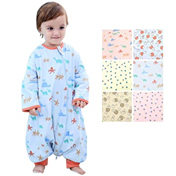 05d28f344c Amazon.com  GEX Baby Sleep Sack 100% Cotton Wearable Blanket Baby Sleeping  Bag Spring Autumn Winter (3mos-6.5year)  Baby