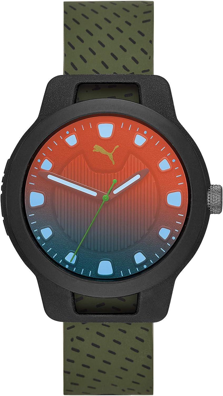 Puma Reloj Analógico para Hombre de Cuarzo con Correa en Silicona 1