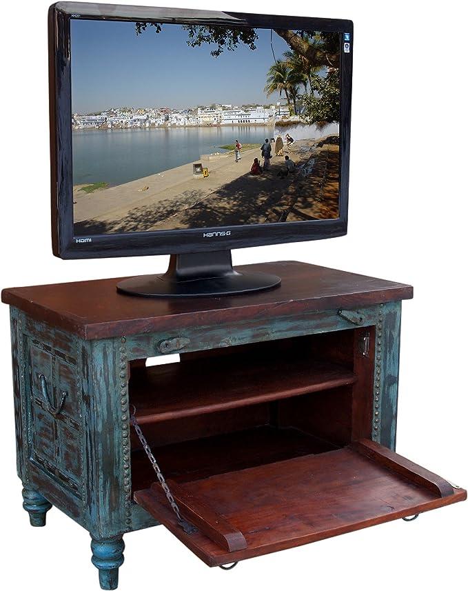 Guru-Shop Pequeña Caja Plasma tv Mesa de TV Antiqueblue, Verde Antiguo, 50x70x40 cm, Cómodas y Aparadores: Amazon.es: Hogar