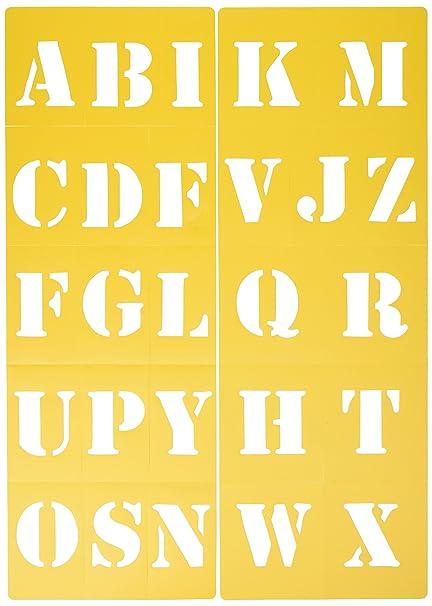 amazon com darice 121729 block style font upper case alphabet