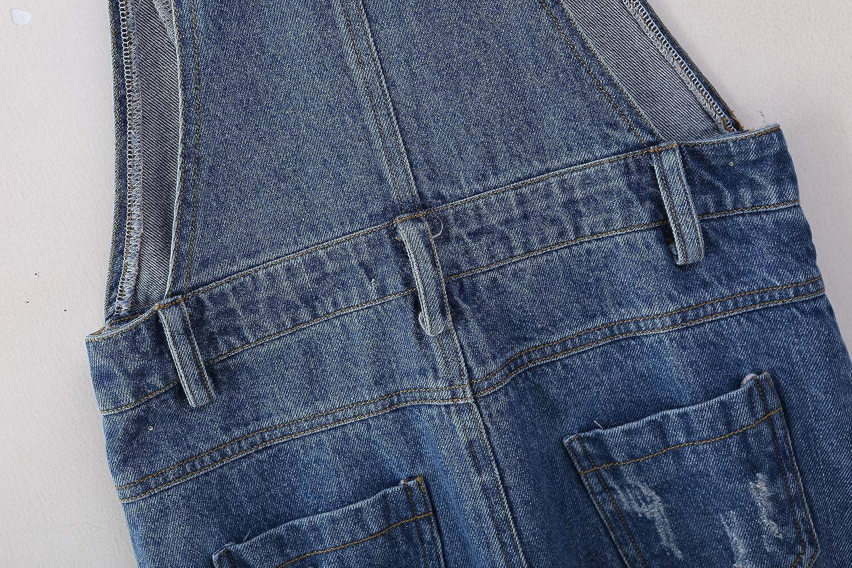 LAVIQK Big Girls Kid Jeans Cotton Suspender Denim Bib Overalls Jumpsuit