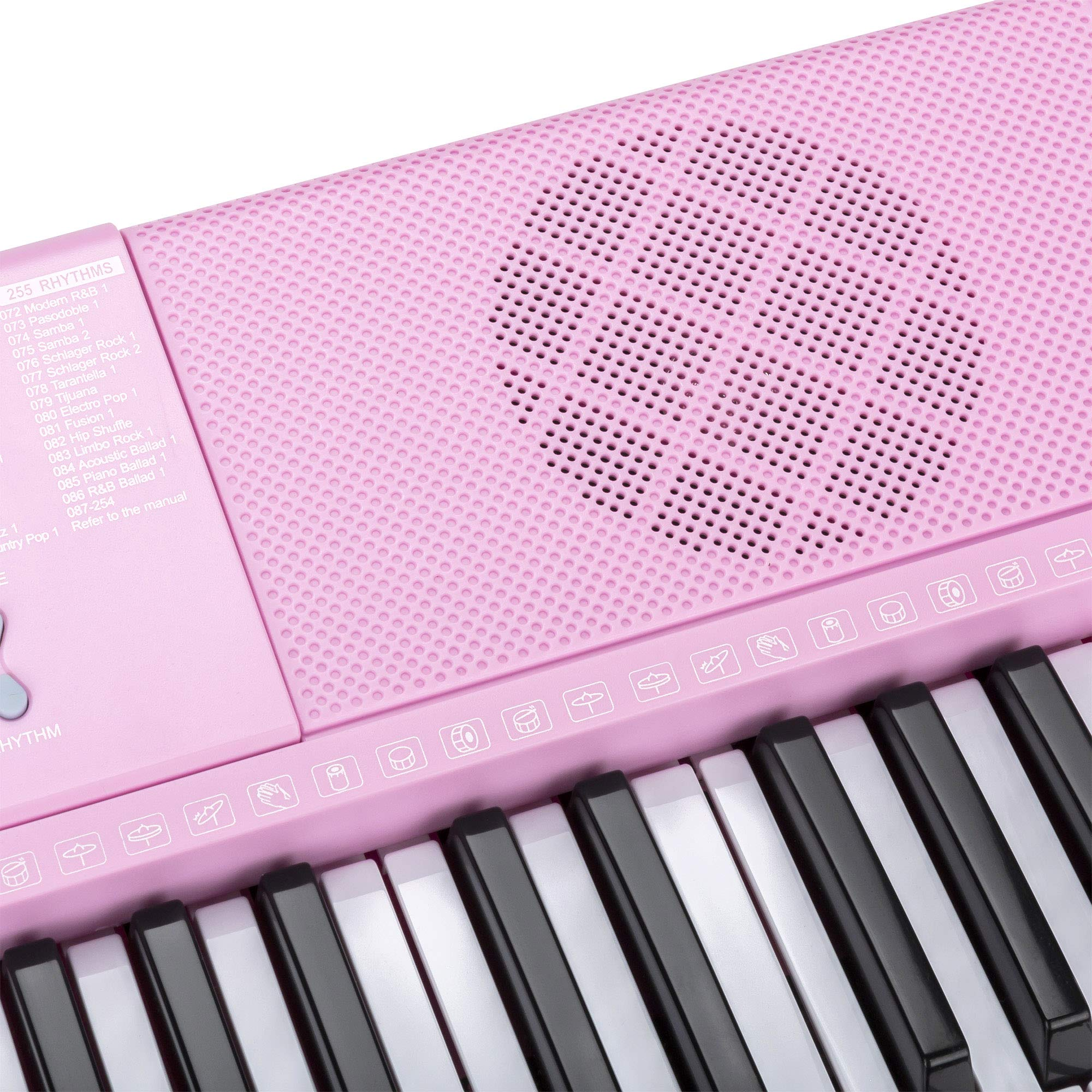 Best Choice Products 61-Key Portable Electronic Keyboard Piano with LED Screen, Record & Playback Function, Microphone, Headphone Jack (Pink) by Best Choice Products (Image #4)