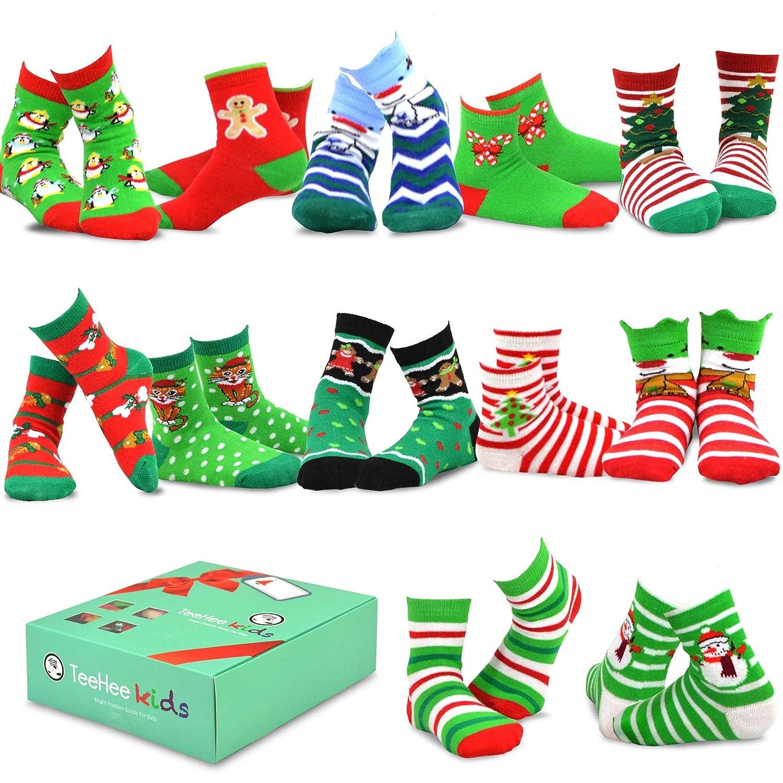 Amazoncom Teehee Christmas 12 Pack Cotton Socks, Great Value Gift Box