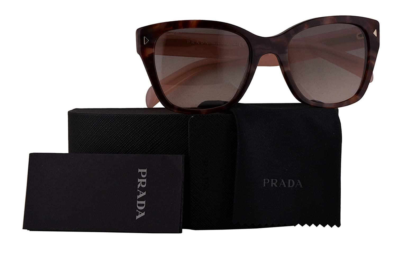 93f919e92df3 Amazon.com  Prada Authentic Sunglasses PR09SS Spotted Brown Pink w Pink  Grey Gradient Lens UE04K0 SPR09S (54mm)  Clothing