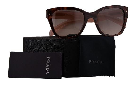 2b81b6ec45f Prada Authentic Sunglasses PR09SS Spotted Brown Pink w Pink Grey Gradient  Lens UE04K0 SPR09S (54mm)  Amazon.co.uk  Clothing