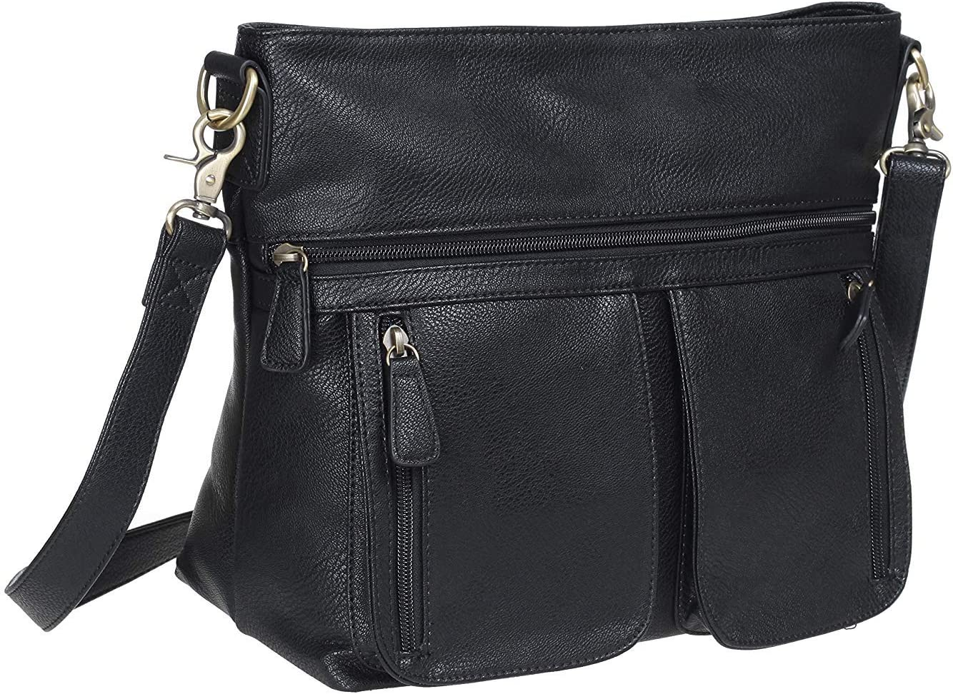 Allison Camera Bag with Dual Front Pouches (Black), black, Size No Size