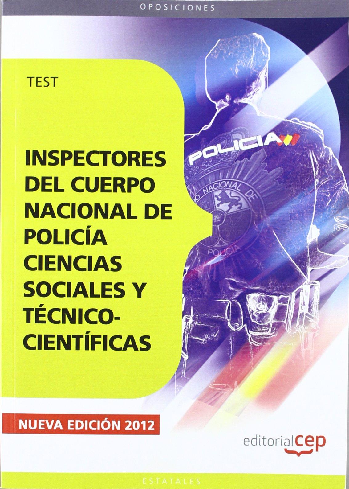 Read Online Inspectores del Cuerpo Nacional de Policía. Test pdf