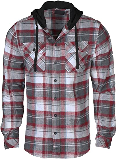 Button Up Hoodie Mens