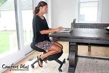 Comfort Design Ergonomic Soft Leather Kneeling Chair Adjustable
