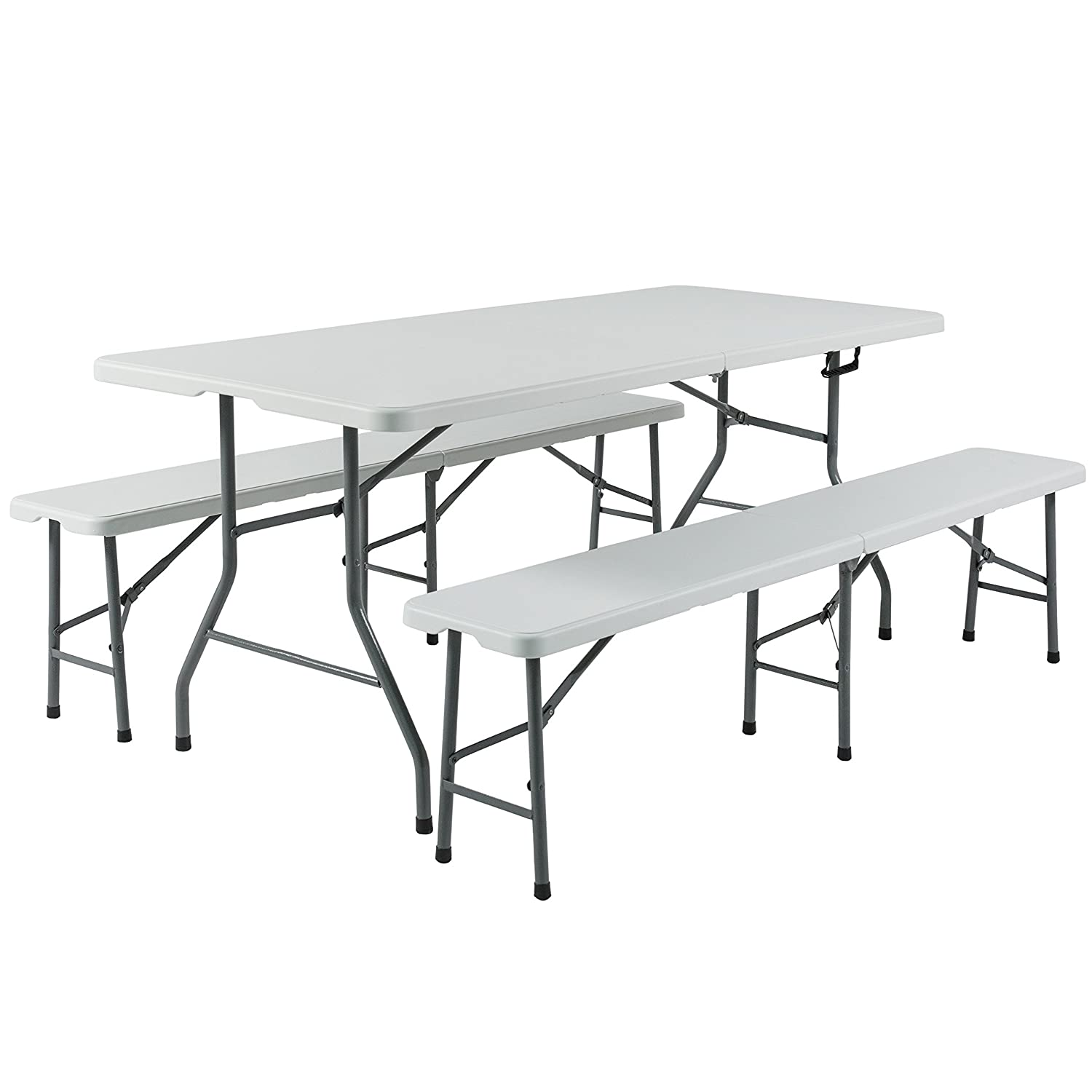 Amazon.com: Best Choice Products 3pc Portable 6\' Folding Table and ...
