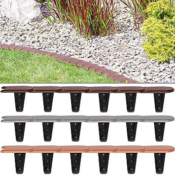 Extrem Deuba Rasenkante   Beeteinfassung 7,6m   terrakotta   Flach   48er WG78