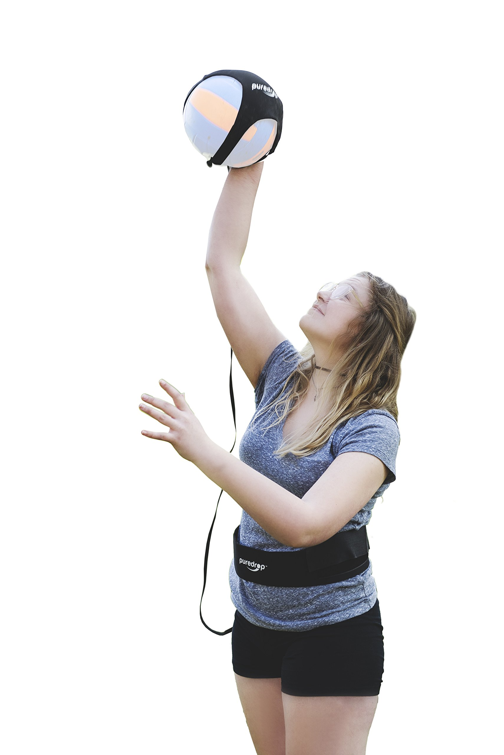 Puredrop Volleyball Training Equipment Aid : great trainer for solo practice of serving tosses and arm swings. Returns the ball after every swing. Adjustable cord and waist length, fits any volleyball