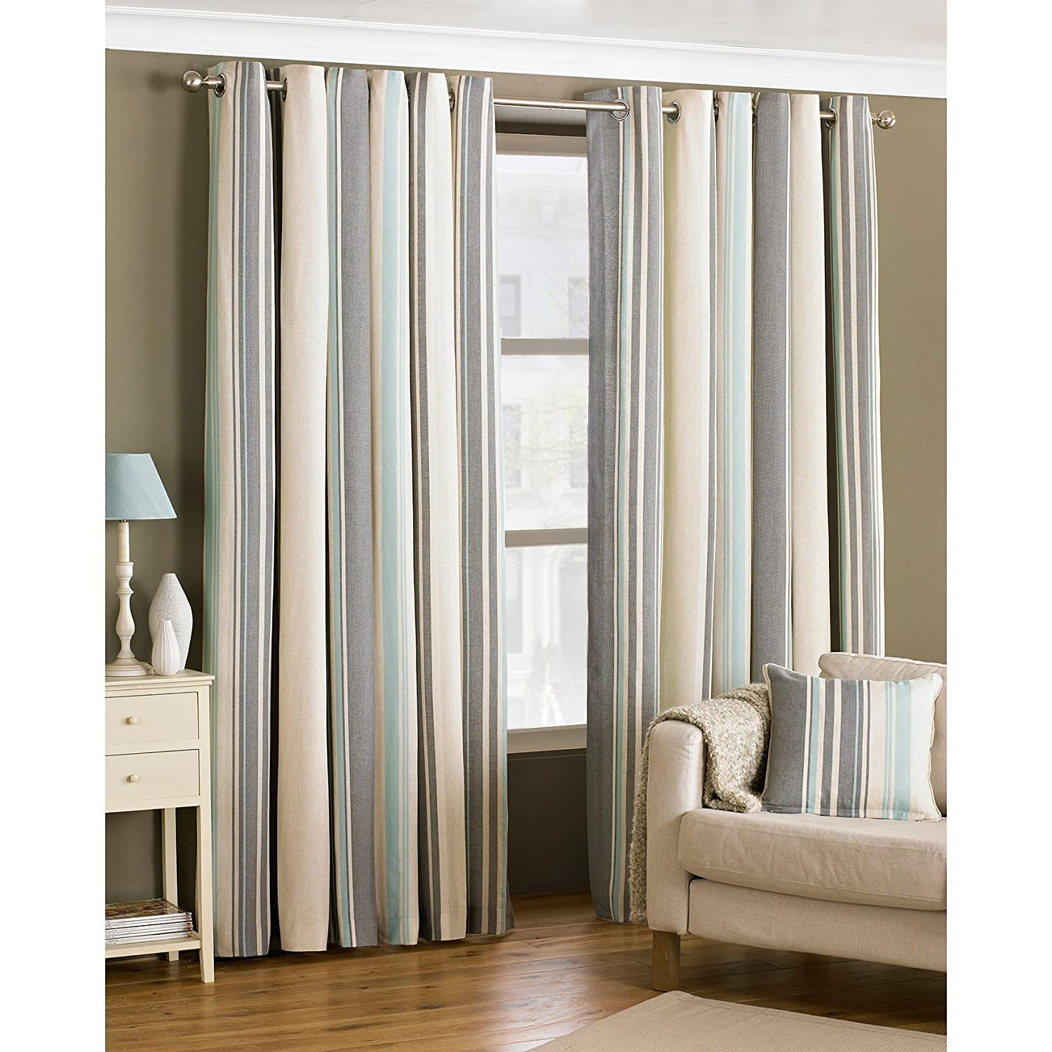 Riva Paoletti Broadway Ringtop Eyelet Curtains Pair