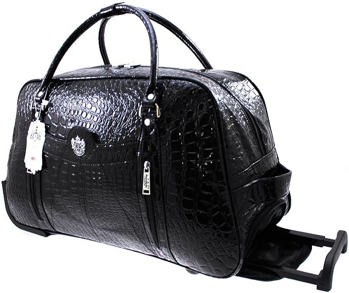 Bolso de viaje con ruedas, para mujer, color negro, marca LYDC: Amazon.es: Ropa y accesorios