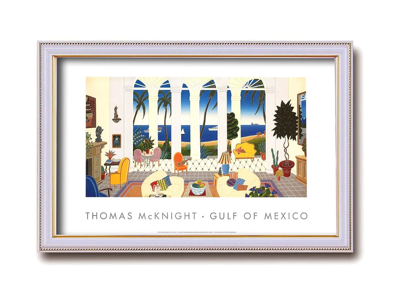 ワイドポスター額 ■トーマスマックナイト(Thomas McKnight)ワイドポスター額 (GULF OF MEXICO) B00ENUKIWS GULF OF MEXICO GULF OF MEXICO