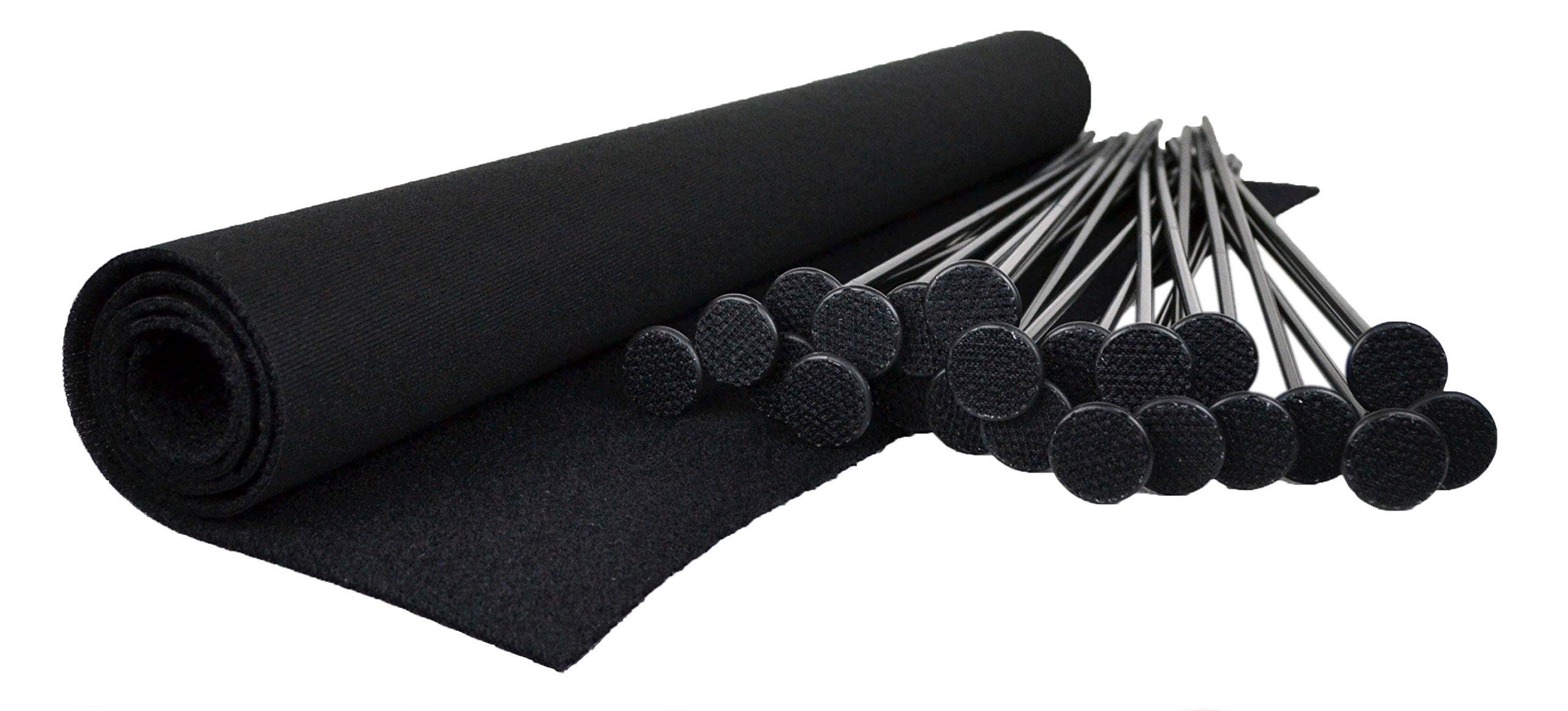 Gun Storage Solutions Rifle Shotgun Safe Rod Organizer Plastic Hook & loop Black Orange by Gun Storage Solutions
