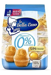 Magdalenas 0% Azúcares - Paquete de 8 x 29.12 gr - Total: 233 gr
