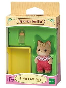 SYLVANIAN FAMILIES- Striped Cat Twins Mini muñecas y Accesorios, (Epoch para Imaginar 5188)